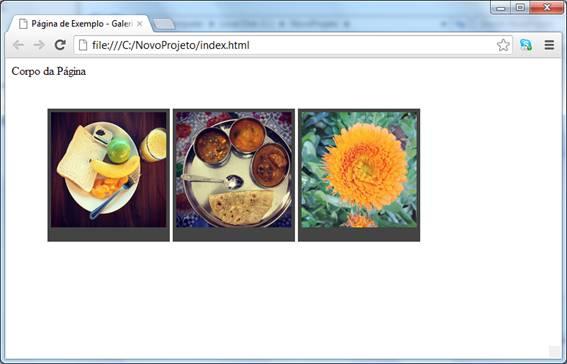 Visual do site após a estilização