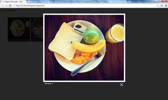 Sobreposição de imagens com Caption