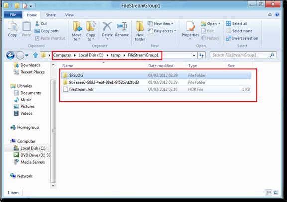 Apresentando a estrutura de arquivos criados