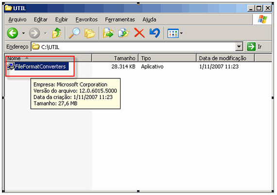 pacote compatibilidade office 2007