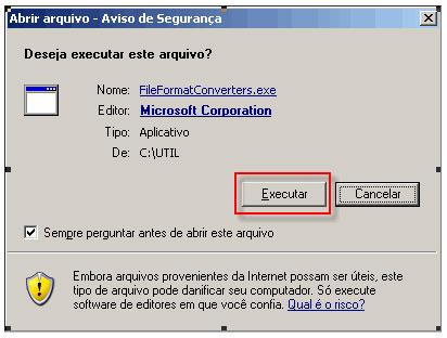 Instalação do Pacote de Compatibilidade do Office 2007