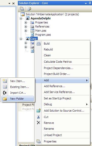 Adicionando Folder Model