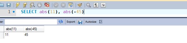 Exemplo de uso da função ABS