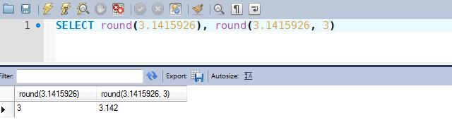 Exemplos de uso da função ROUND