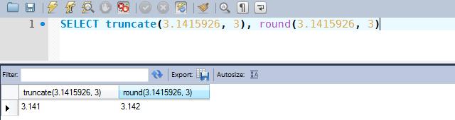 Exemplos comparativos de uso das funções TRUNCATE e ROUND