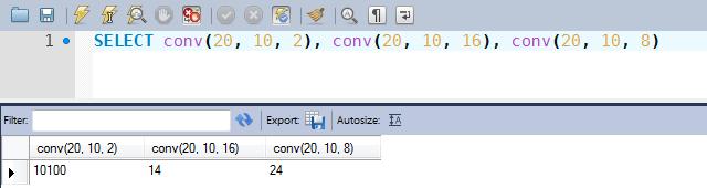 Exemplos de uso da função CONV