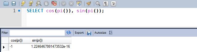 Exemplo de uso das funções COS e SIN