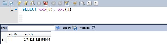 Exemplos de uso da função EXP