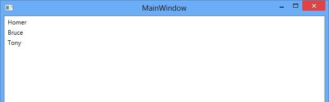 Exibição de dados simples no ListBox