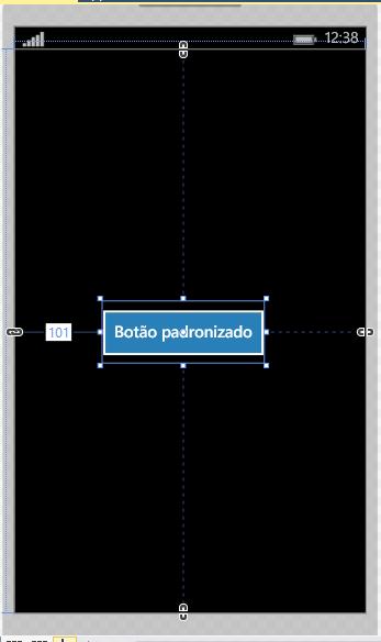 Botão estilizado automaticamente no Windows Phone