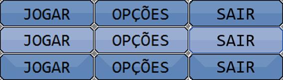 Sprite sheet dos botões