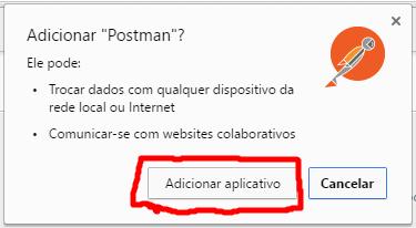 Confirmando instalação do Postman