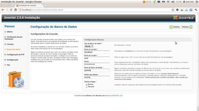 Configurando o banco de dados