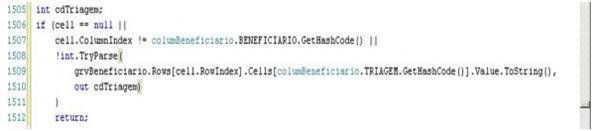 Código que deve ser convertido em rotina