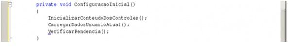 Trecho de código simples