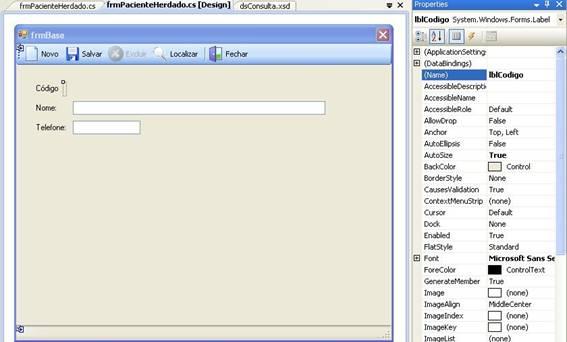 Cadastro de um consult rio em windows forms com c e sql for Consul windows