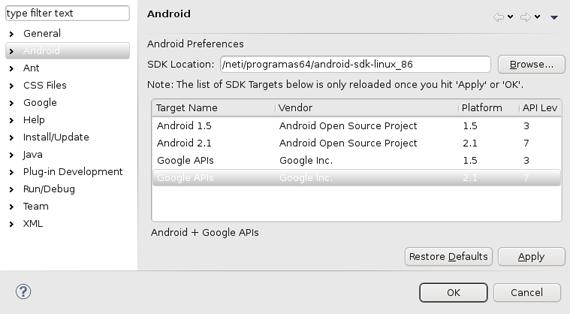 Instalando o Android SDK na plataforma Linux