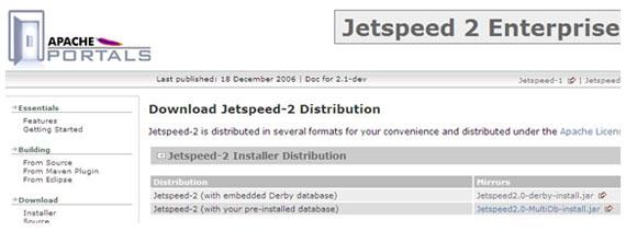 Portais Java: Instalação do Jetspeed