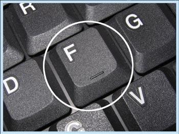 Letra F e seu relevo