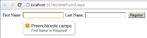 Teste com Chrome