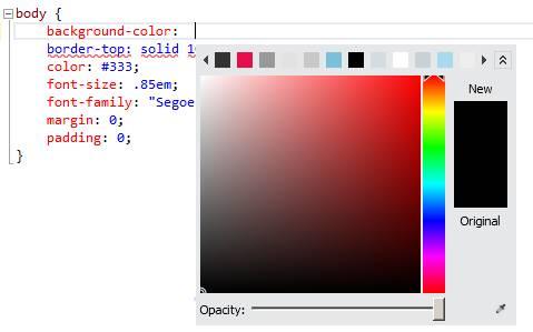 Escolhendo mais cores