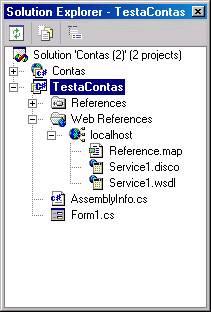 Estrutura do projeto após a adição da referência