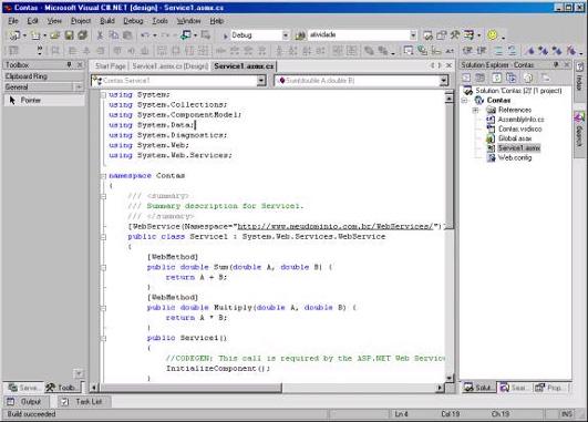 Código no editor