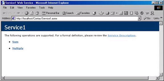 Página de teste do webservice