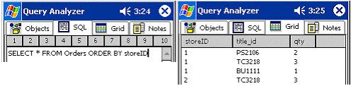 Usando SQLStatements e examinando os resultados