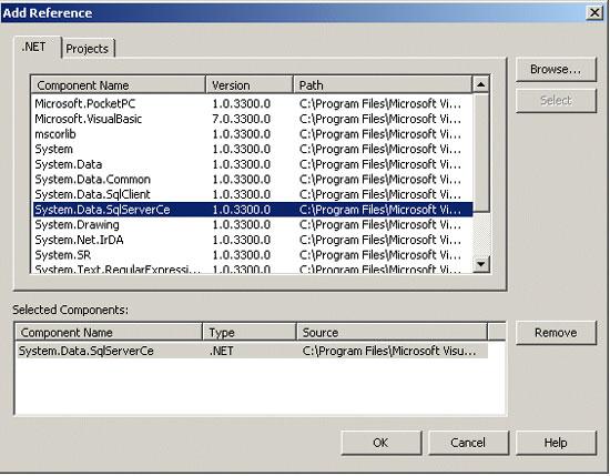 Adicionando a Reference para o SQL Server CE Managed Provider