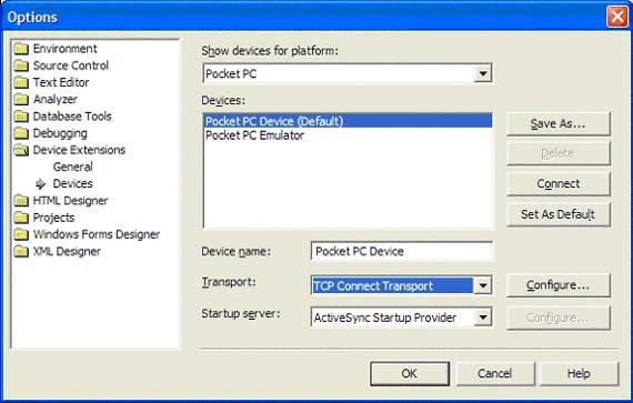 Configurando Transport para TCP Connect  Transport