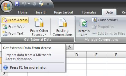 Consulta de dados no Excel